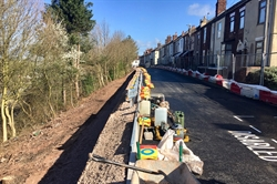 Network Rail continue work to secure street next to West Coast main line