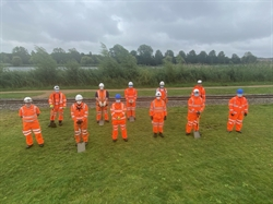Network Rail volunteers lend a hand to Wicksteed Park train