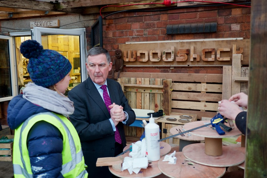 HS2 Chairman (Allan Cooke) visit to Jericho in Sutton Coldfield
