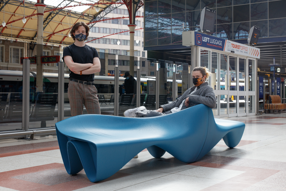 Hyelmo and Ai Build have combined their expertise in digital fabrication and 3D printing to create seating that challenges the way furniture in the public domain is produced.