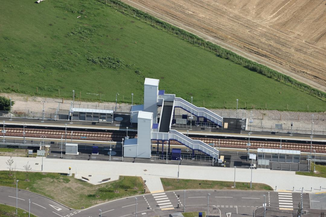 Aerial shot of the new Kintore station