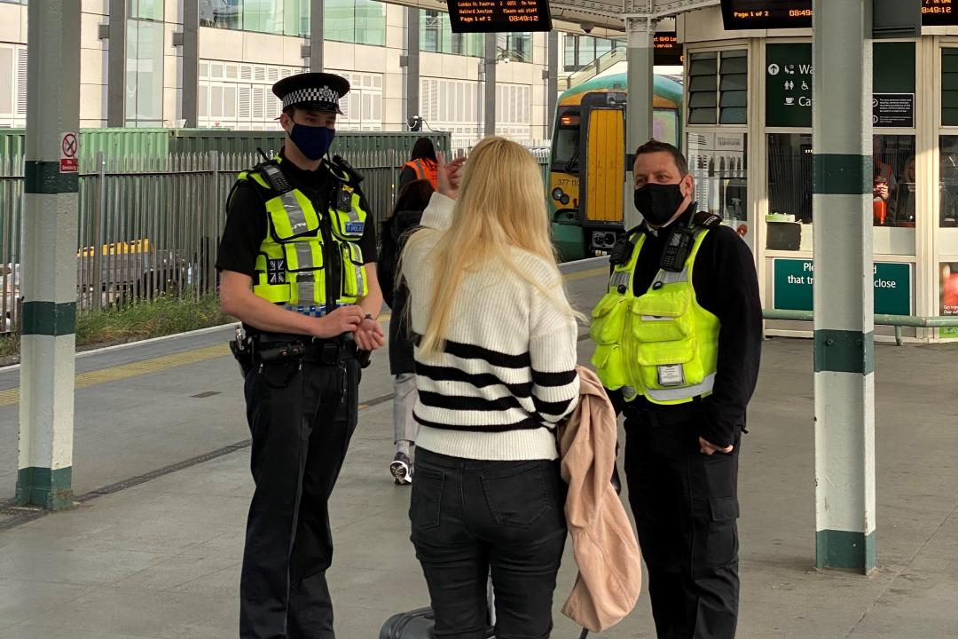 New joint working pilot with BTP in London as rail companies work to ensure people can travel with confidence