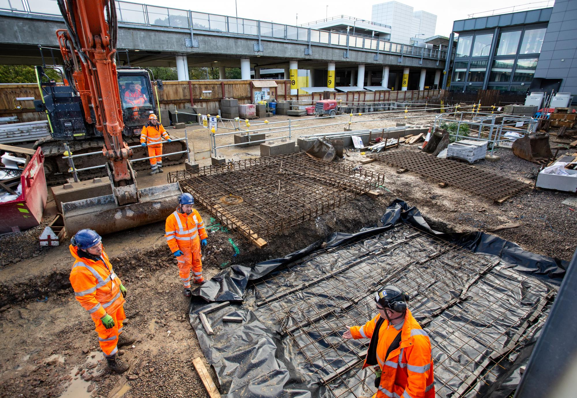 Gatwick Airport Station redevelopment works taking place