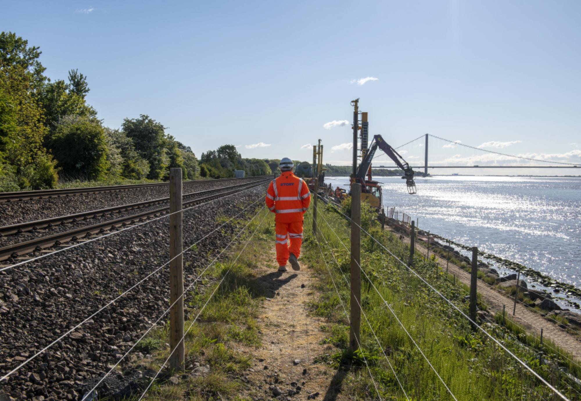 rail worker working on the track