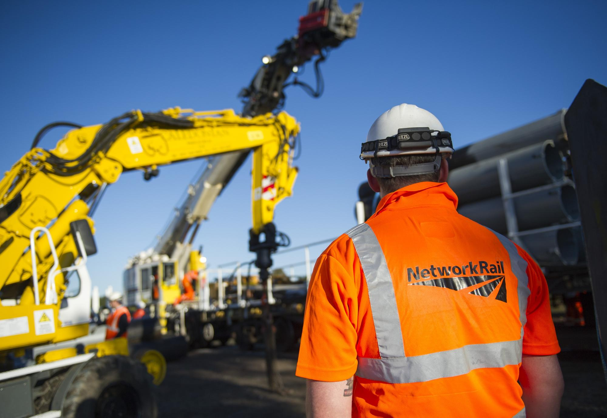 Network Rail engineer on site of a major project