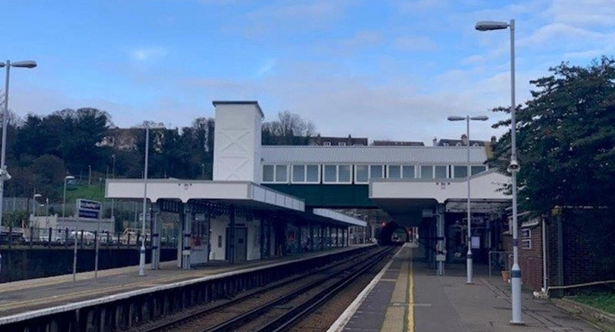 Footbridge at Dover Priory station