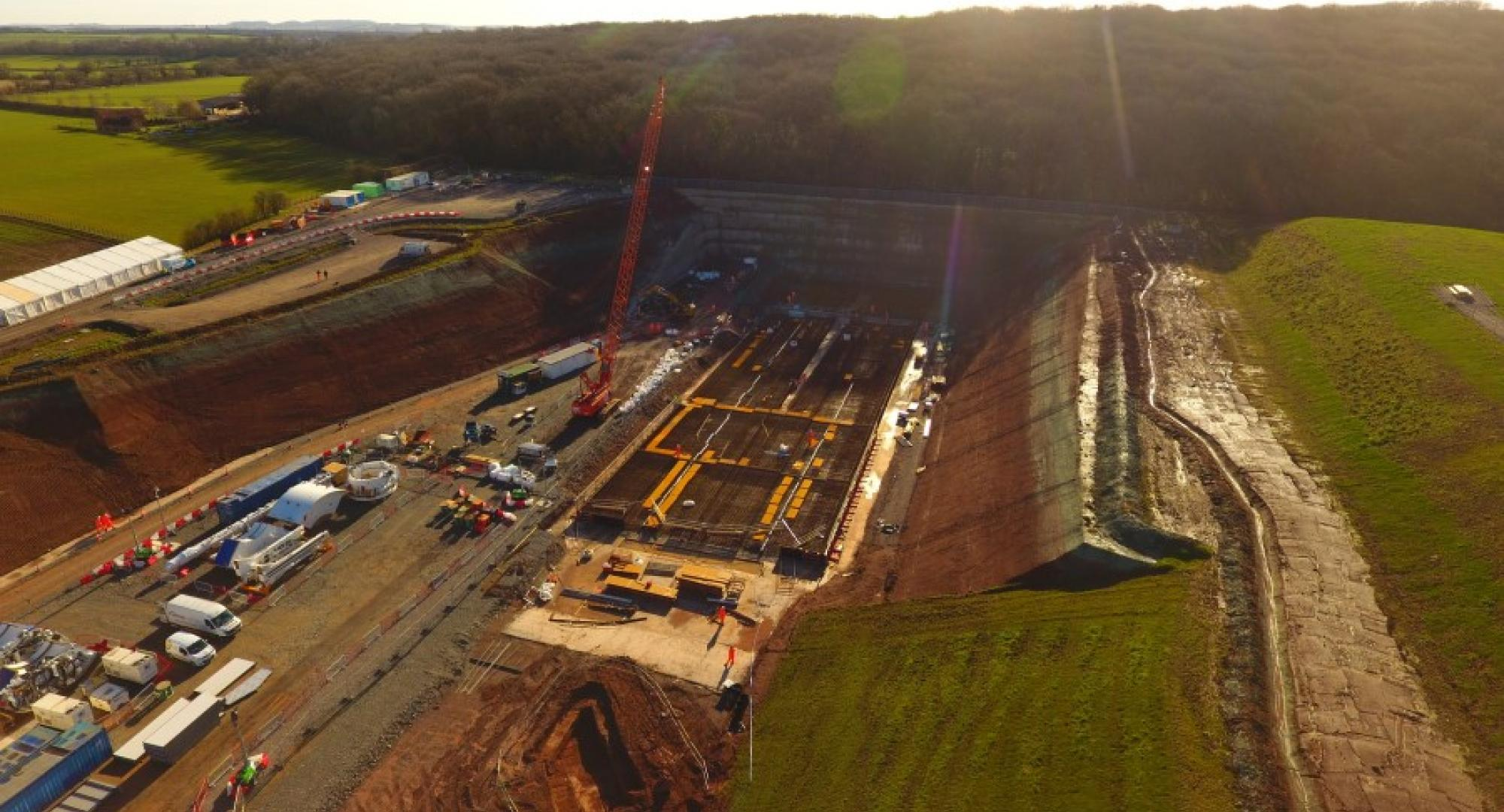 HS2 north portal site ready for tunnel boring machine