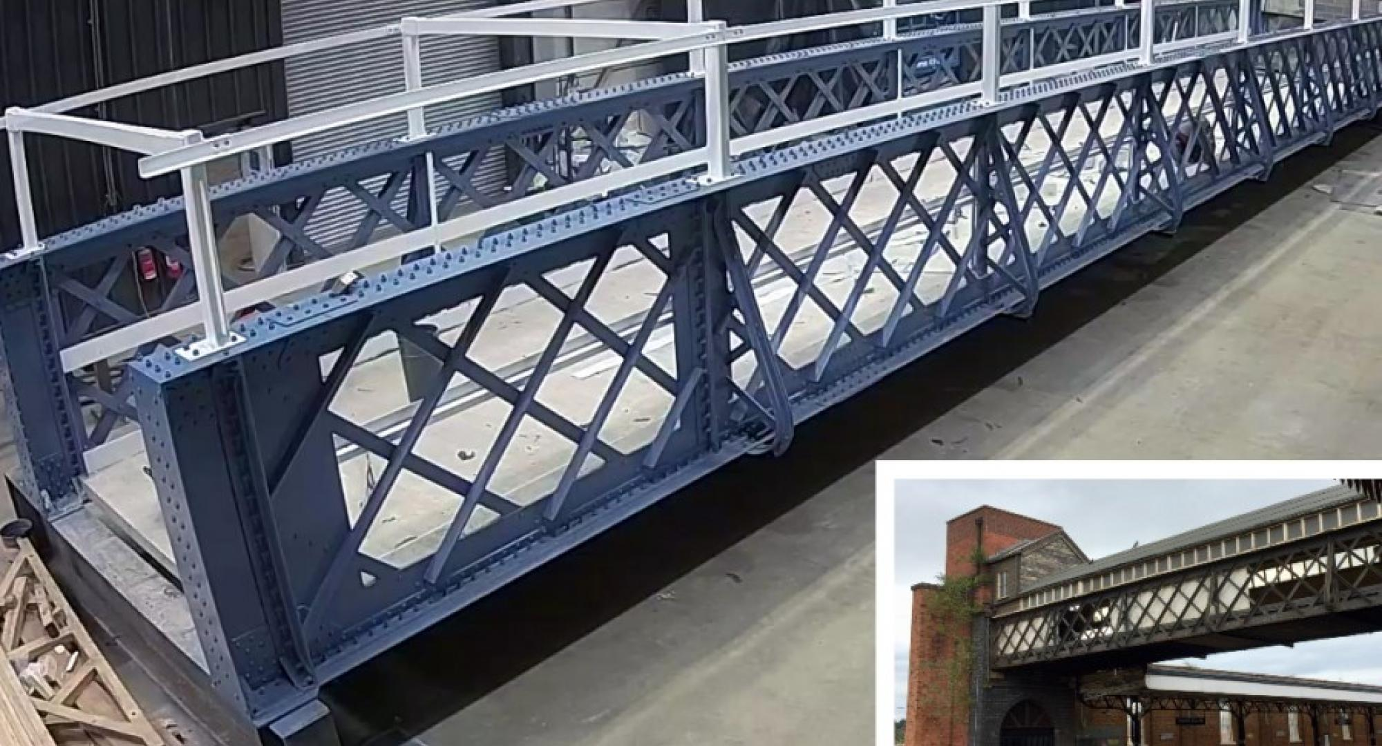 Worcester Shrub Hill luggage bridge replacement composite
