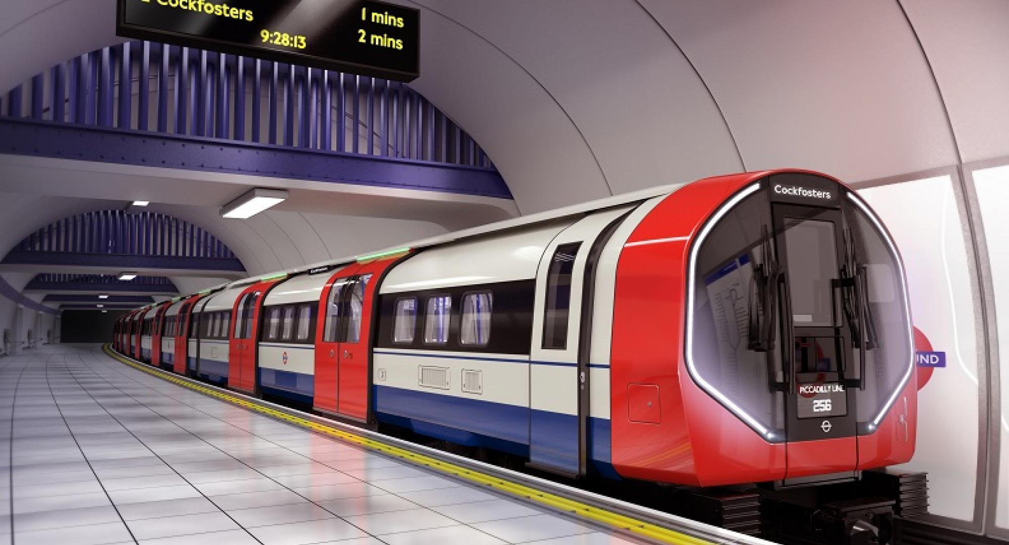 New Piccadilly Line tube train design