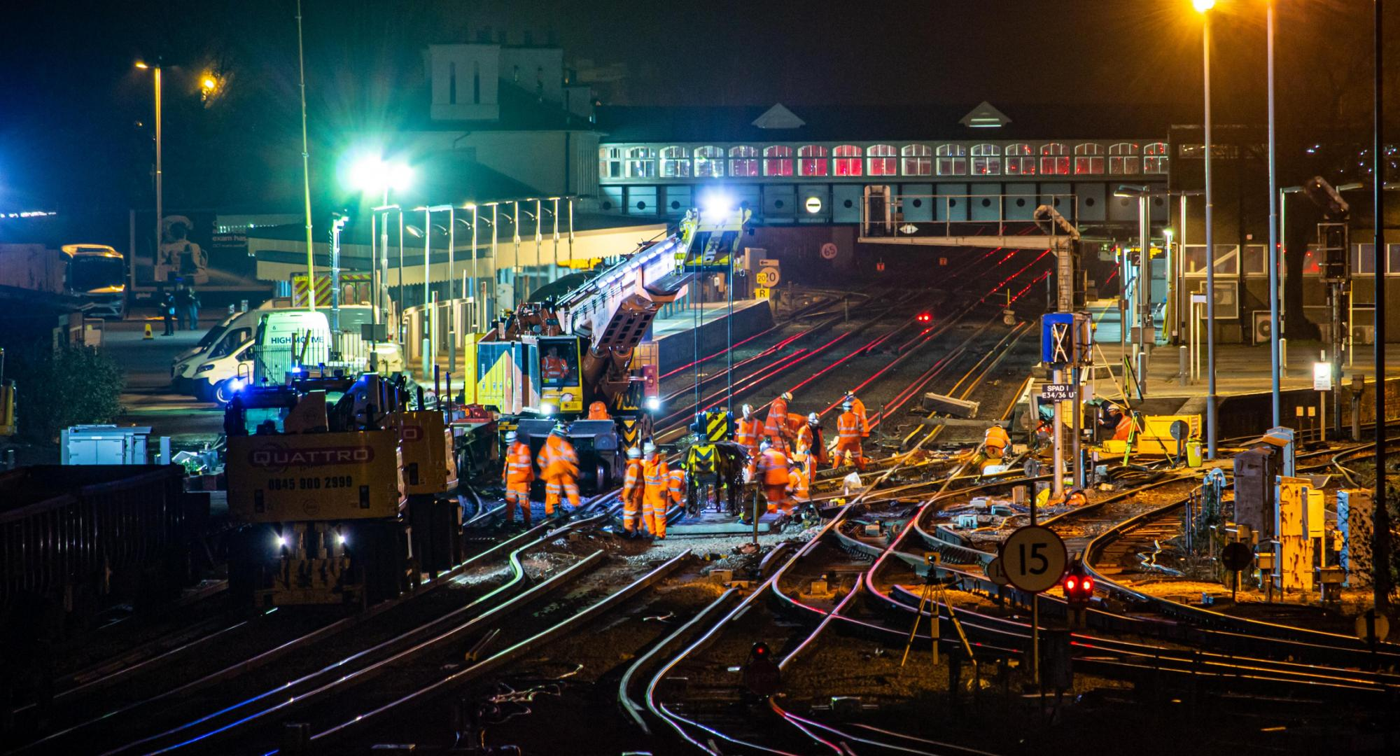 Network Rail engineers working on site