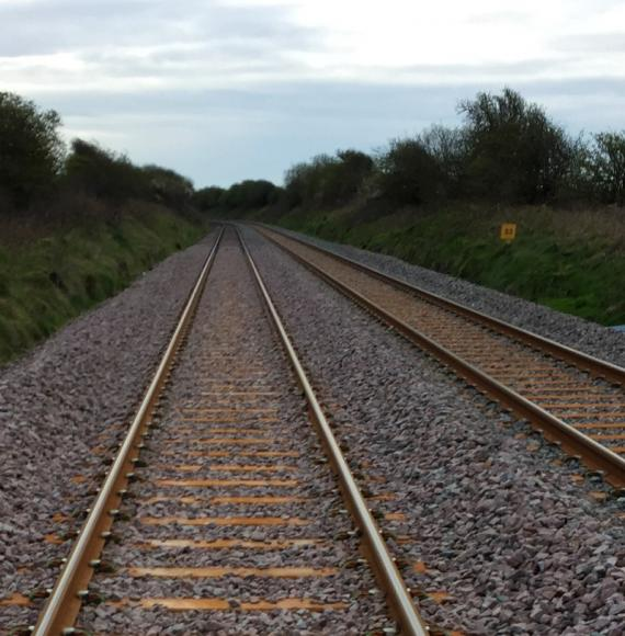 The tracks at Bootle that are being worked on
