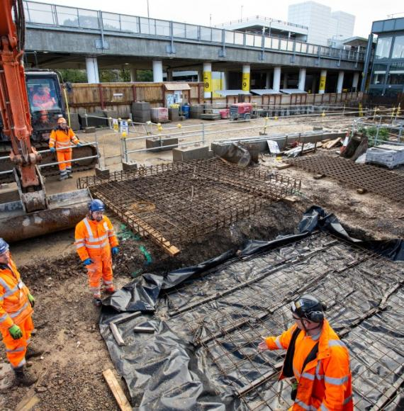 Behind the scenes at Gatwick Airport station building site
