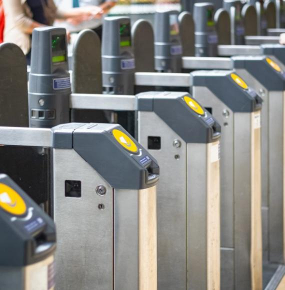 Railway ticket barriers