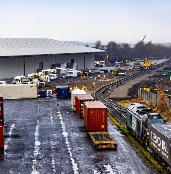 Grangemouth rail freight port