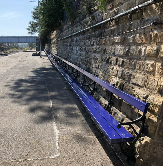 Network Rail complete restoration work to Grade II listed bench at Scarborough railway station