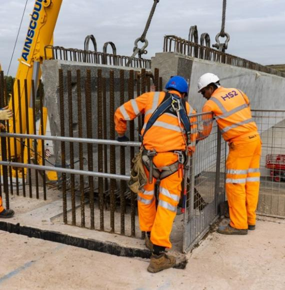 HS2 Interchange first beam lift for trace bridge south September 2020