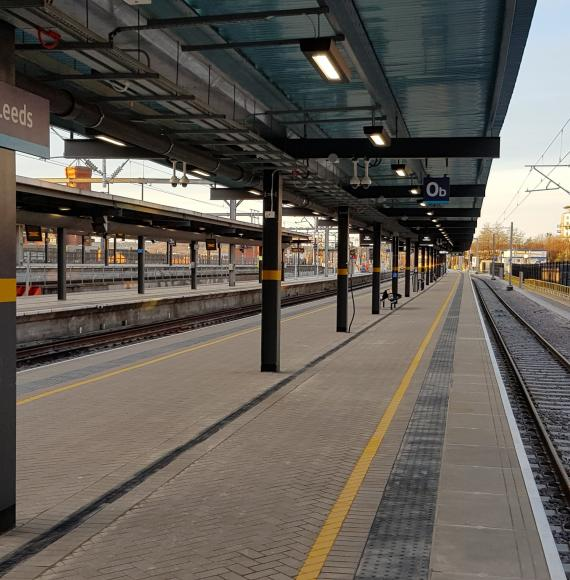 Brand-new platform unveiled at Leeds station