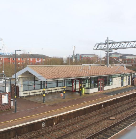 Aerial photo of Horwich Parkway station