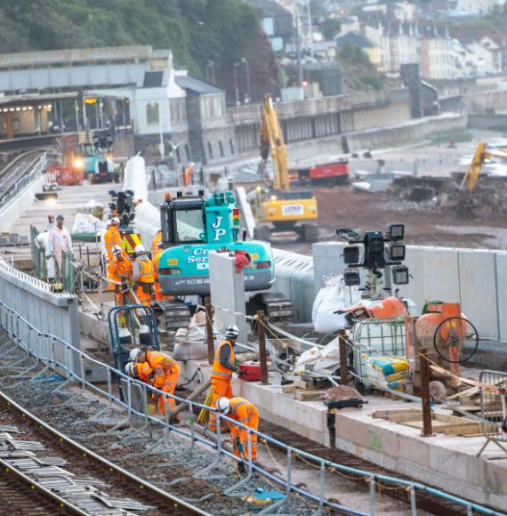 New sea wall helping defend railway seven years on