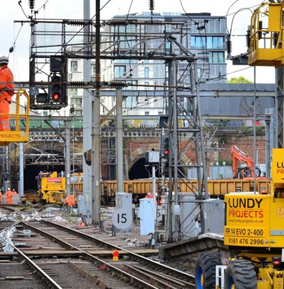 East Coast Upgrade works at King's Cross incoming