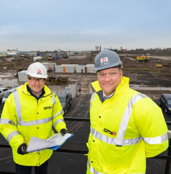 GMI - Divisional Managing Director Lee Powell and Project Director Mike Kershaw at Goole