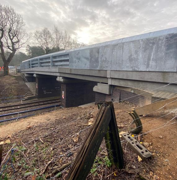 Network Rail replace two bridges in Norfolk