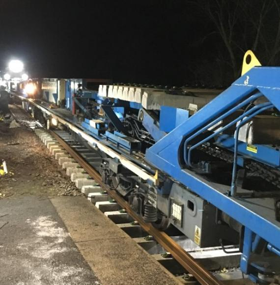 New track construction machine at Castleton Moor