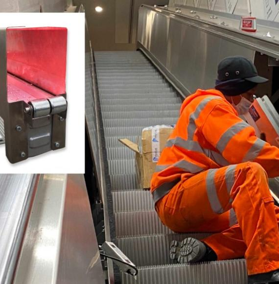 UV-C handrail cleaning device trialled at Euston