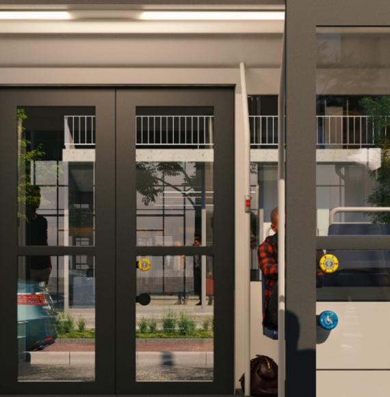 Tram artists illustration