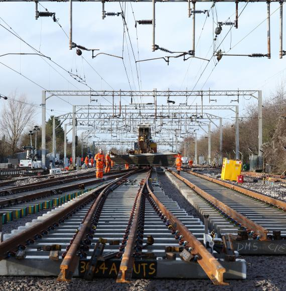 Network Rail renewal works at Colchester