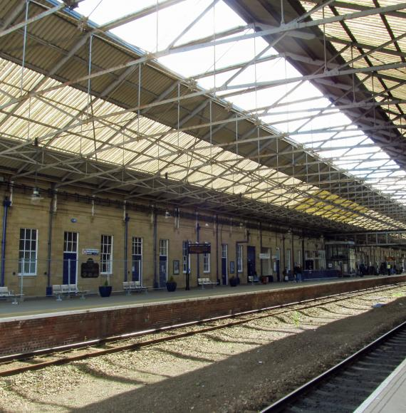 Huddersfield train station