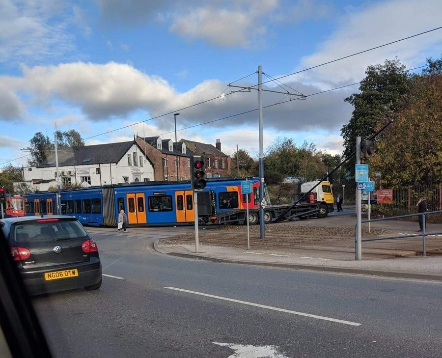 New tram-train collides with lorry in Sheffield on the day of launch