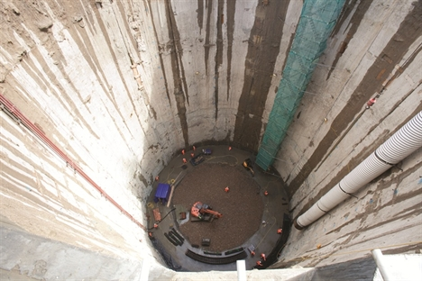 Crossrail's Docklands tunnel shafts near completion