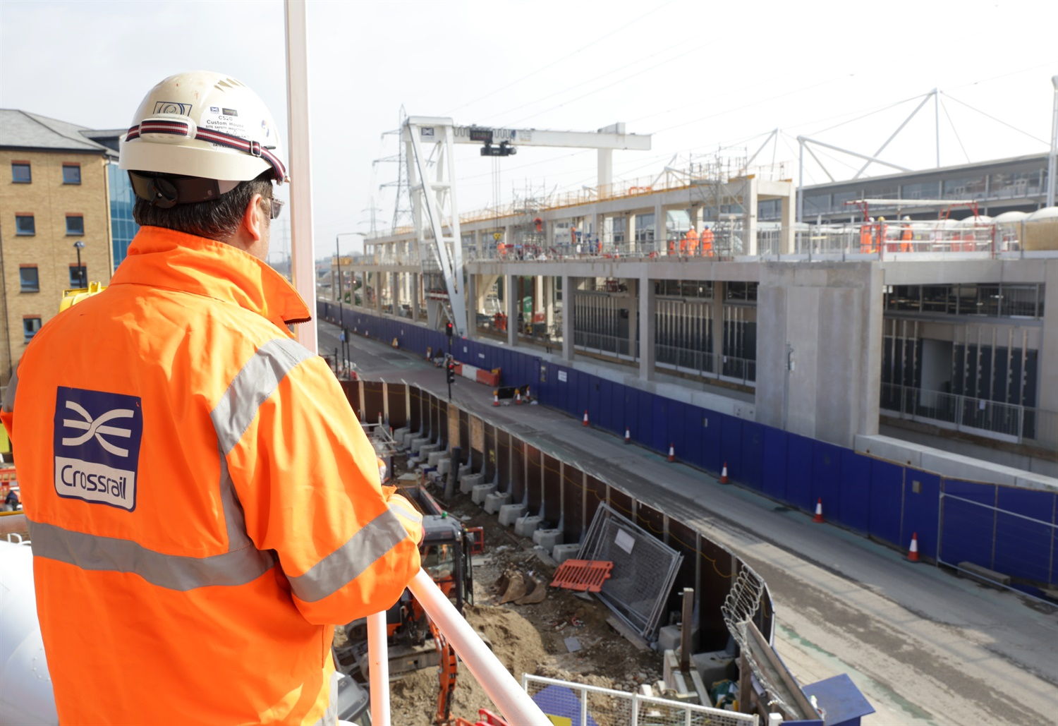 Structure for new Crossrail station – built off-site in Derbyshire – completed