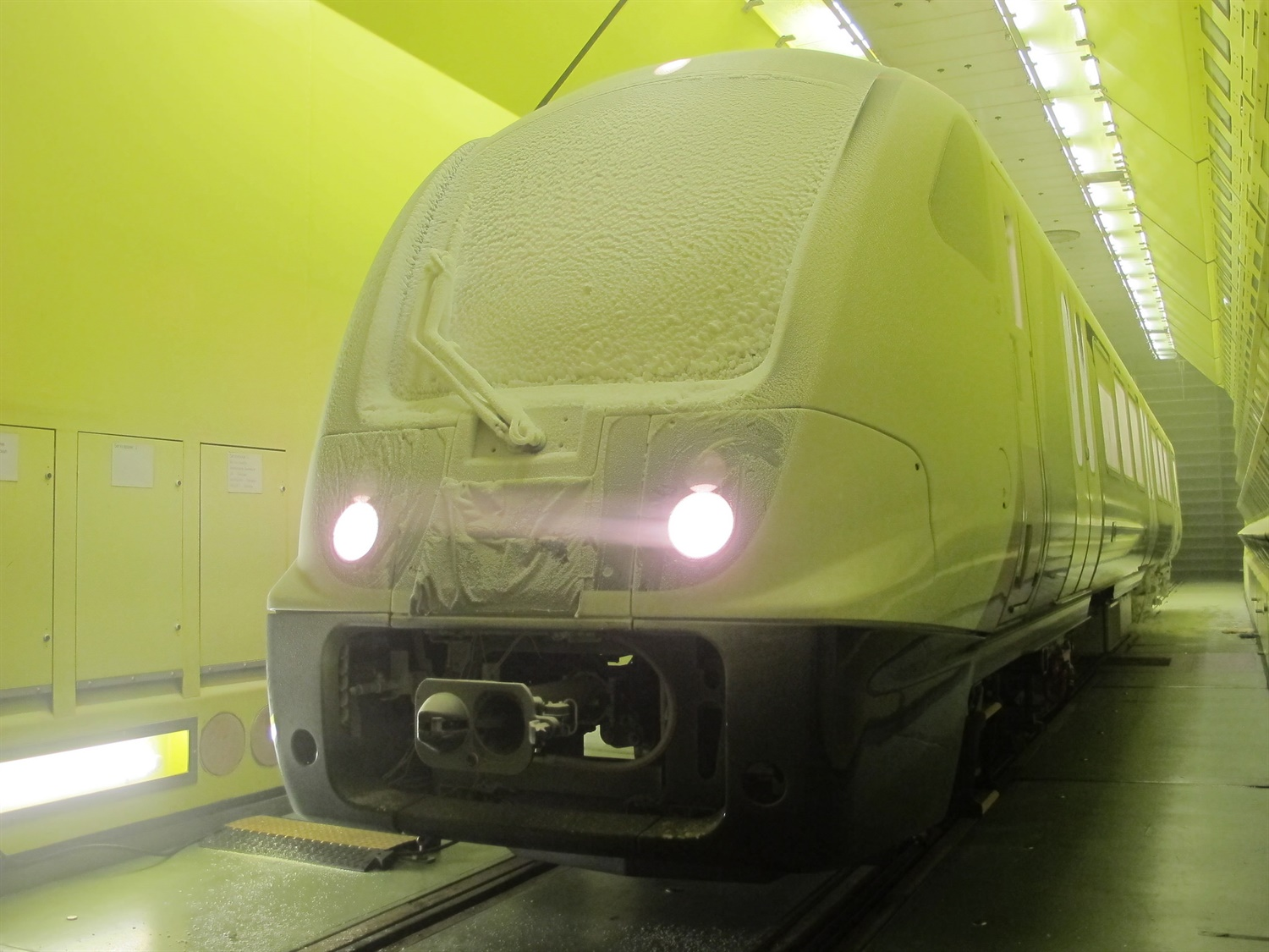 Crossrail trains undergo intense weather testing in Austria