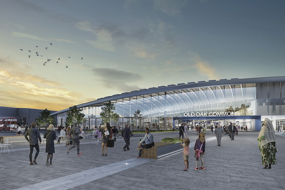 HS2's latest designs for Old Oak Common Station revealed