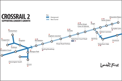 Crossrail 2 route proposal published