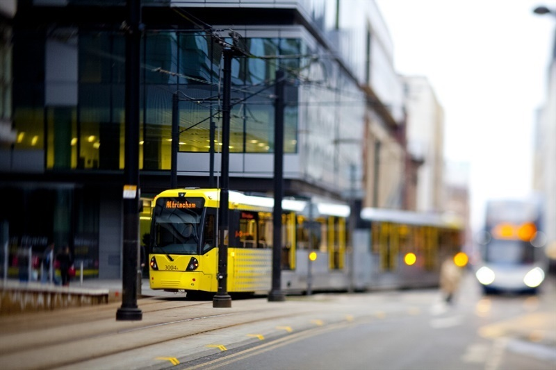 First test trams run along Manchester's Second City Crossing