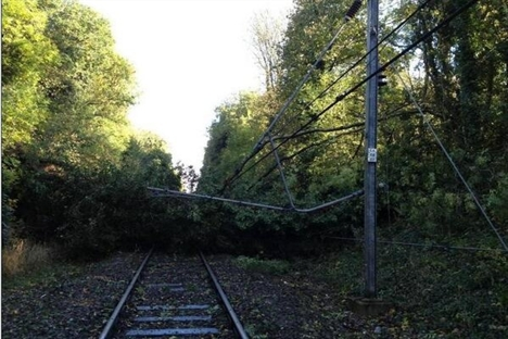 Major rail disruption across the south due to storm