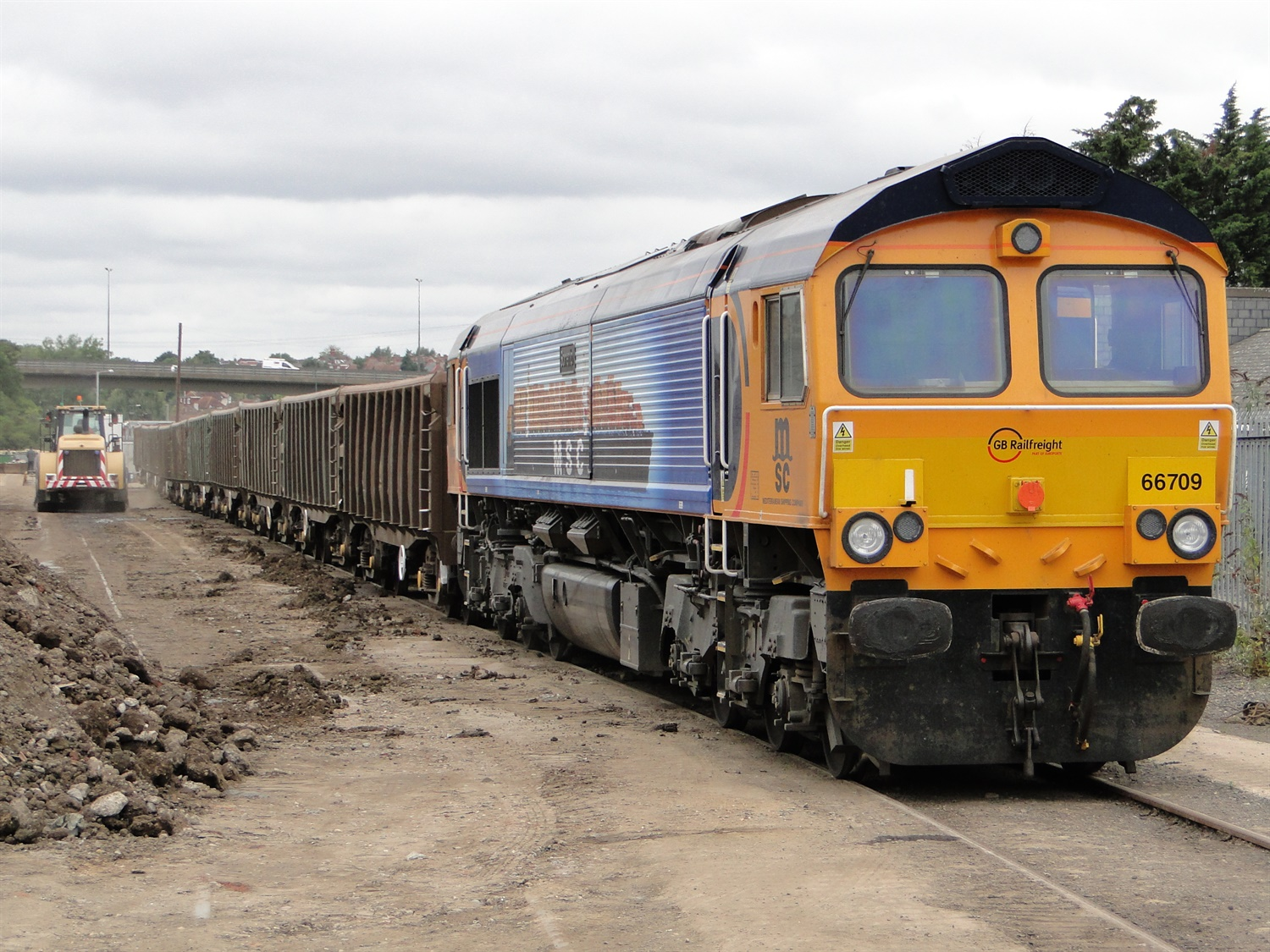 GBRf runs first waste train from new North London Railfreight Terminal