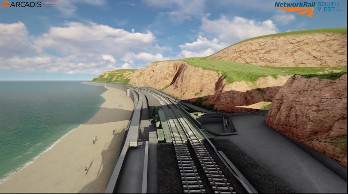 Network Rail unveil new Holcombe to Teignmouth rail protection plan