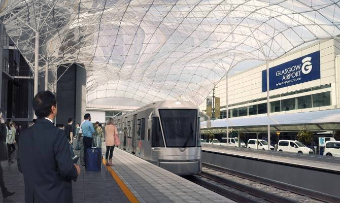 Glasgow confirms plans for £144m tram-train link to airport