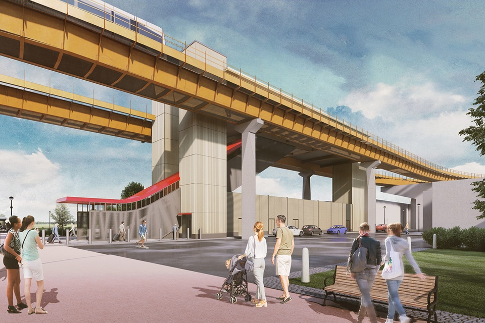 An Automated People Mover will link to the NEC, Birmingham International Station and Birmingham Airport.