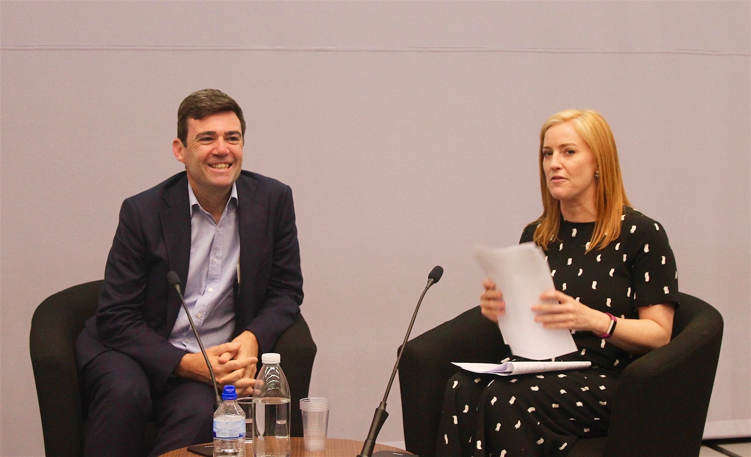 Andy Burnham and Sarah Jane Mee