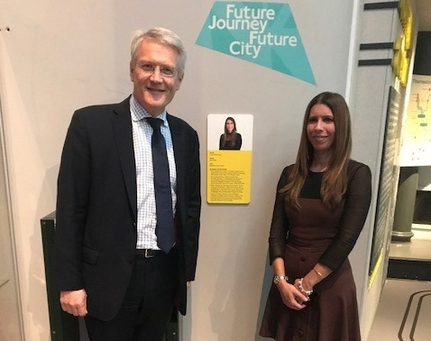 Leading Women in Rail campaigner Anna Delvecchio honoured with portrait plaque at London Transport Museum