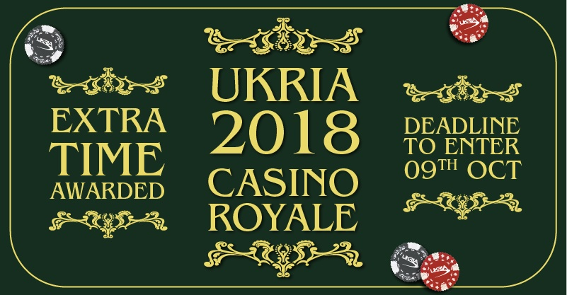 Deadline for UKRIA 2018 entries extended by two weeks