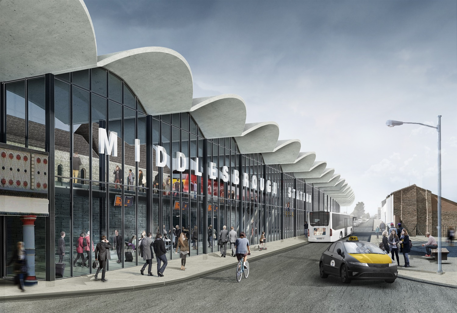 Artist's Impression of Middlesbrough station regeneration (002)