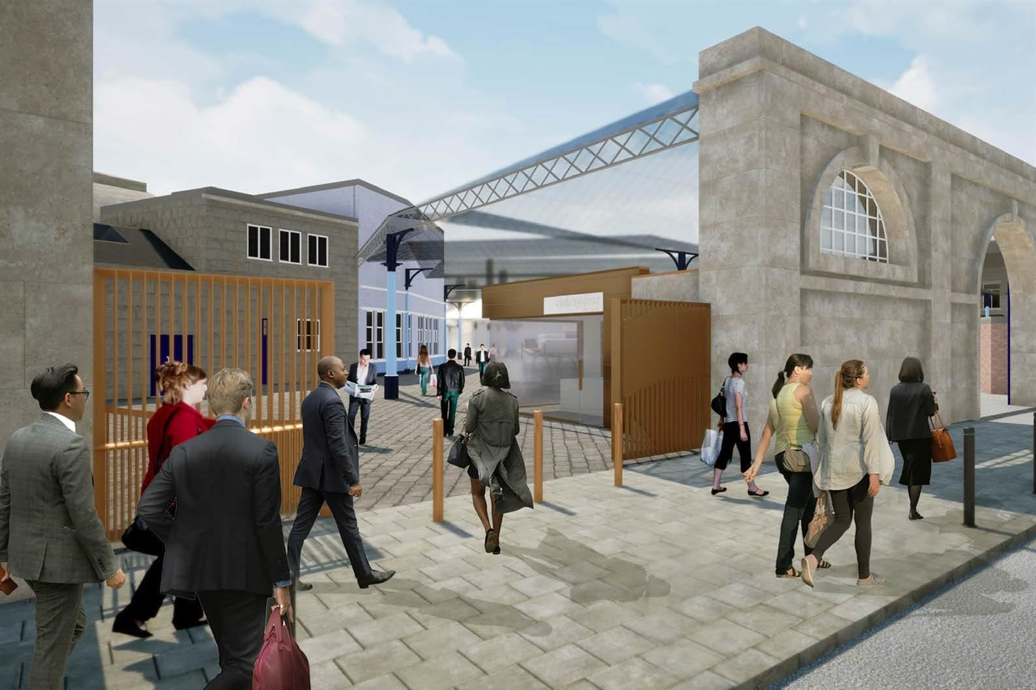 Artist impression of Neville Street entrance