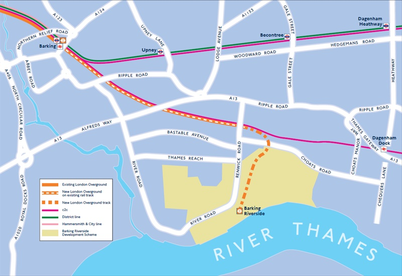 TfL plans Overground track extension to Barking Riverside