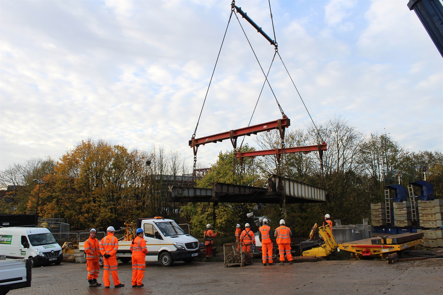 'Rotten' Burnley canal bridge replaced by Network Rail